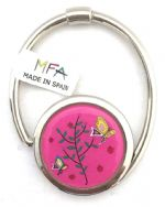 Designer Handbag Hook - S-Tail - Bag Hanger - Ladybirds & 2 Bufferflies - Pink